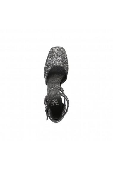 Pantofi cu toc Versace 1969 VERONIQUE NERO SILVER argintiu