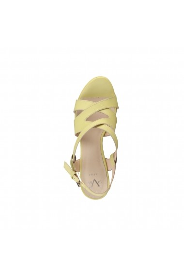 Sandale cu toc V 1969 MARCELLE MIMOSA galben