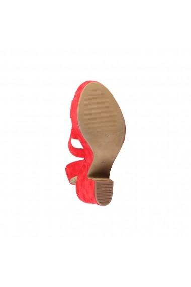 Sandale cu toc V 1969 OLIVIA LAMPONE rosu