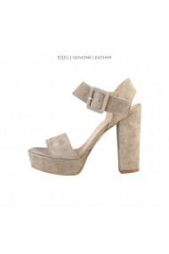 Sandale cu toc Versace 1969 ROSELINE ATMOSFERA bej