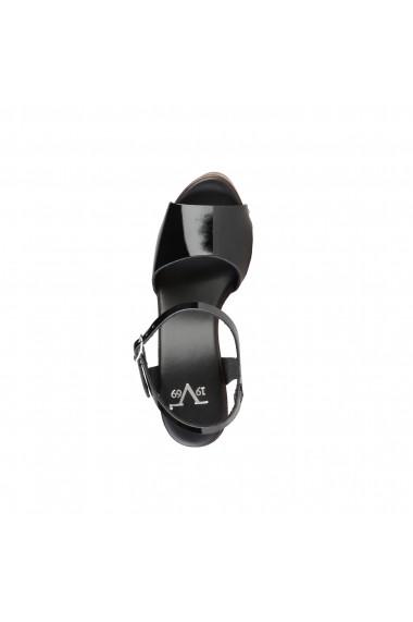 Sandale cu toc V 1969 DORALICE VERNICE-NERO negru