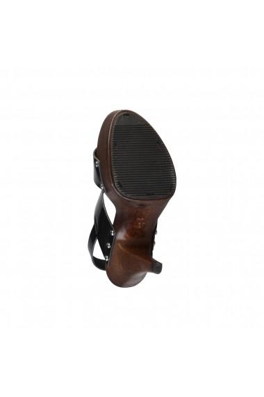 Sandale cu toc V 1969 PAULETTE VENUS-NERO negru