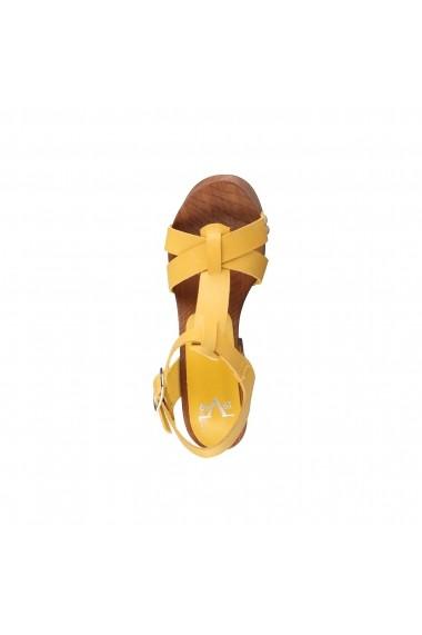 Sandale cu toc V 1969 LUCIENNE GIALLO galben