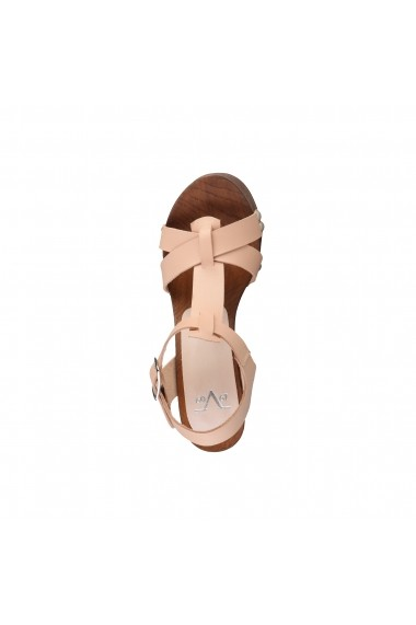 Sandale cu toc V 1969 LUCIENNE NUDE nude