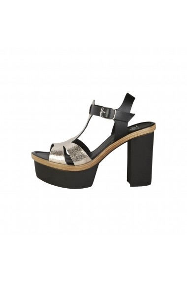 Sandale Versace 1969 EGLANTINE NERO PLATINO argintiu