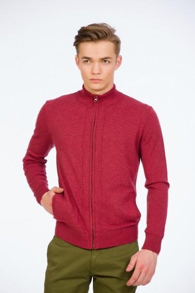Jacheta bordo cu fermoar pentru barbati marca Be You