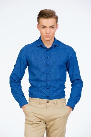 Camasa bleumarin print albastru marca Be You
