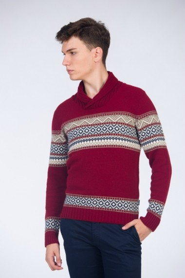 Pulover pentru barbati Be You Christmas bordo
