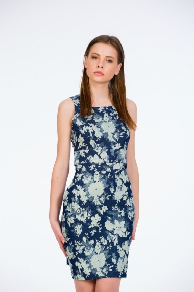 Rochie de zi denim tip sarafan marca Be You