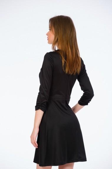 Rochie de zi neagra clos cu maneca Be You