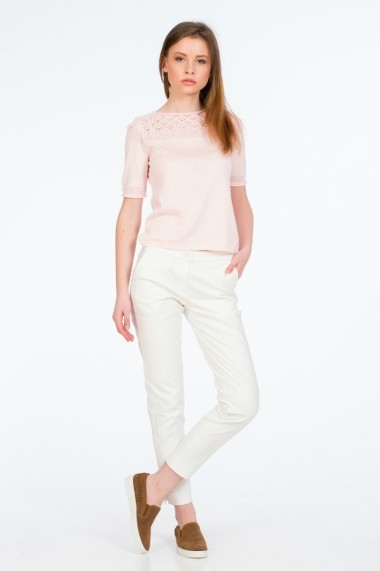 Pantaloni drepti albi pentru femei marca Be You