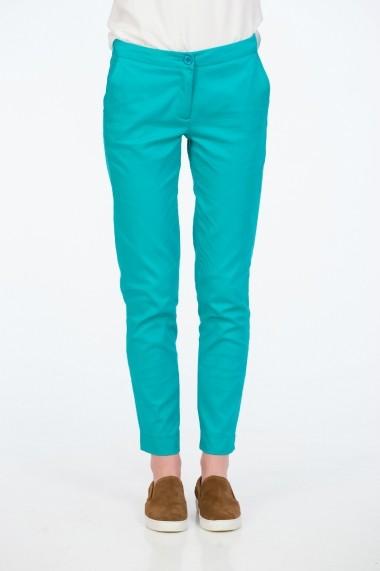 Pantaloni drepti turcoaz pentru femei marca Be You