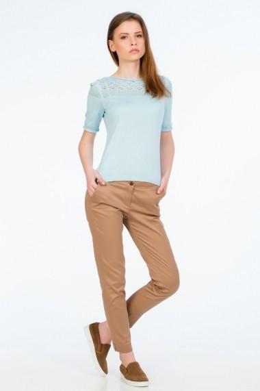 Pantaloni drepti camel pentru femei marca Be You