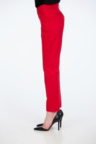 Pantaloni drepti femei rosii office marca Be You