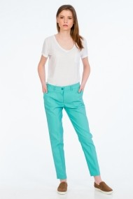 Pantaloni drepti Be You 3305 turcoaz