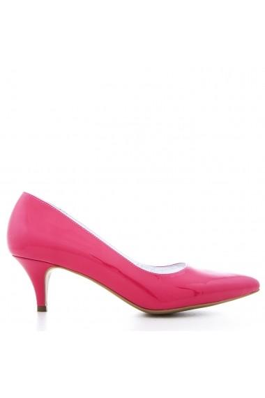 Pantofi cu toc pentru femei marca CONDUR by alexandru roz orhidee, cu toc