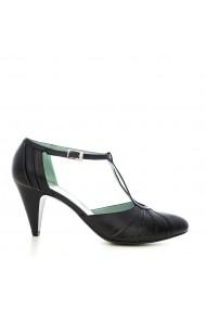 Pantofi cu toc pentru femei CONDUR by alexandru negru box, cu bareta