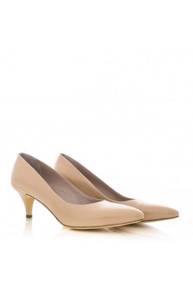 Pantofi cu toc pentru femei CONDUR by alexandru lac nude toamna