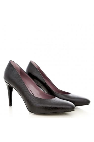 Pantofi cu toc CONDUR by alexandru din teius negru
