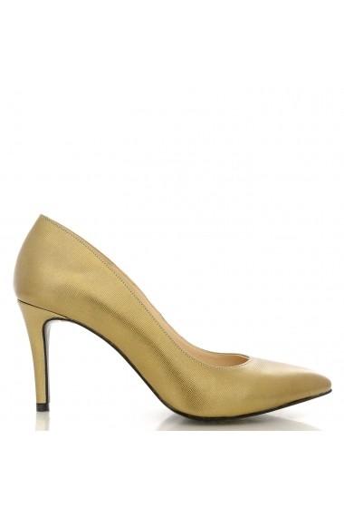 Pantofi cu toc CONDUR by alexandru din print aramiu, toc inalt de 7,5