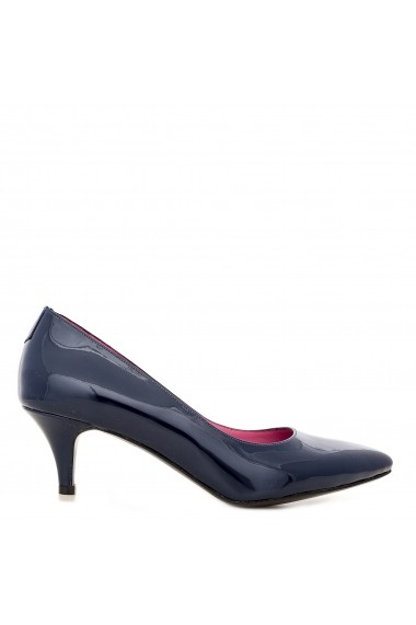 Pantofi cu toc CONDUR by alexandru din lac bleumarin, toc mic