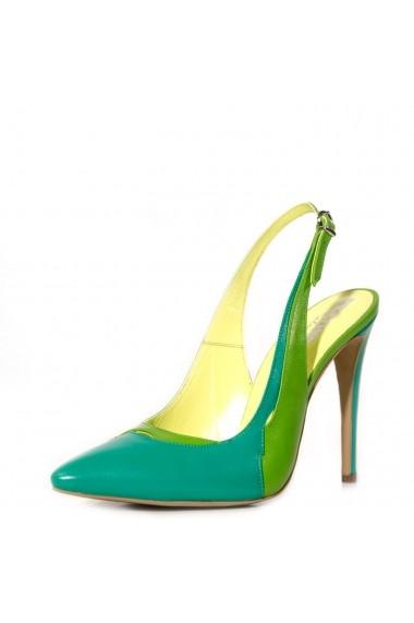 Pantofi decupati la spate CONDUR by alexandru din box verde