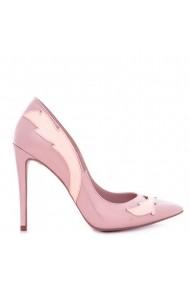 Pantofi cu toc CONDUR by alexandru din lac roz cu nude