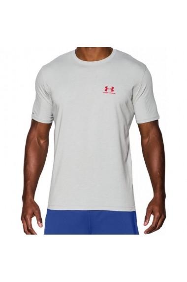 Tricou pentru barbati Under armour Sportstyle Left Chest Logo T-Shirt M 1257616-025, gri deschis