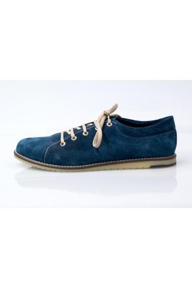Pantofi sport pentru barbati Basil Jones Break bleumarin cu siret