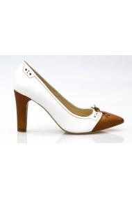 Pantofi pentru femei marca Thea Visconti alb-camel