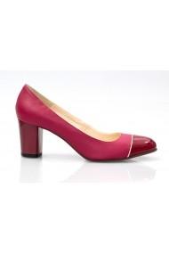 Pantofi cu toc Thea Visconti bordo din piele naturala si lacuita