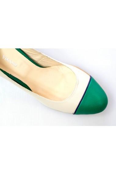 Pantofi cu toc Thea Visconti crem