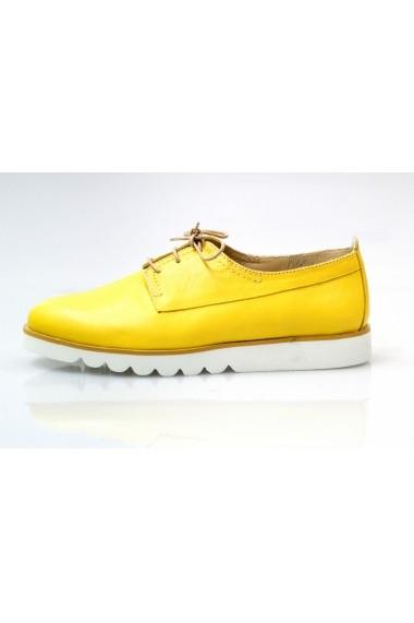 Pantofi Thea Visconti galbeni cu siret