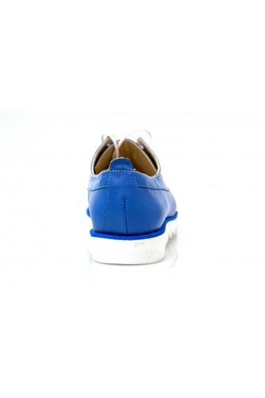 Pantofi Thea Visconti albastri din piele naturala
