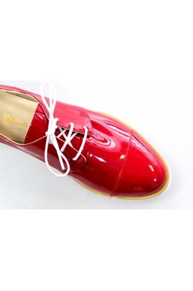Pantofi Thea Visconti rosii din piele lacuita