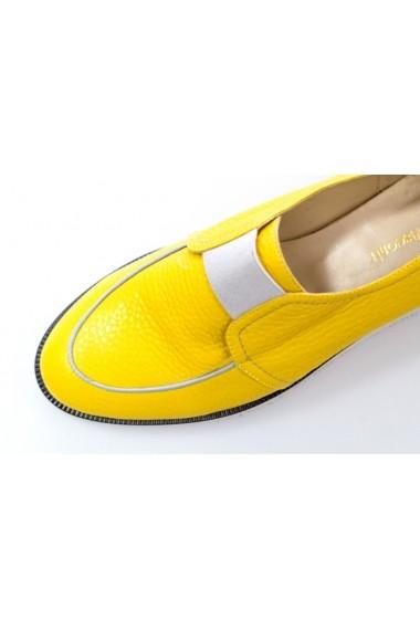 Pantofi Thea Visconti galbeni cu elastic