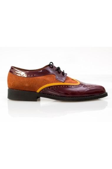 Pantofi Thea Visconti visiniu-caramiziu