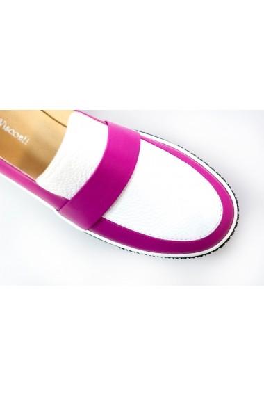 Pantofi Thea Visconti alb-fucsia cu talpa Celeste