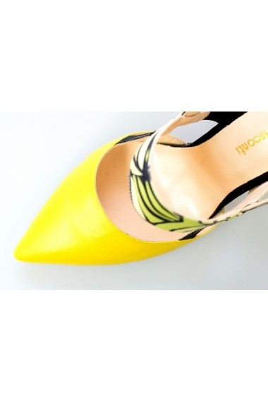 Pantofi cu toc Thea Visconti 1253 galben