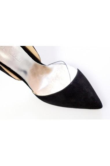 Pantofi cu toc pentru femei Thea Visconti negri decupati