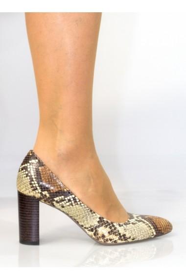 Pantofi cu toc Thea Visconti escarpen cu snake-print