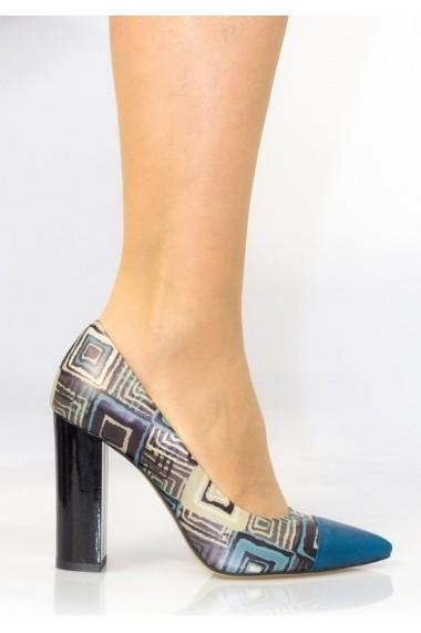 Pantofi cu toc pentru femei Thea Visconti cu print carouri
