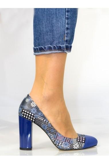 Pantofi cu toc Thea Visconti cu motive florale