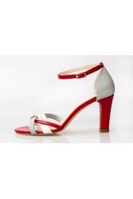 Sandale pentru femei Thea Visconti rosu cu gri