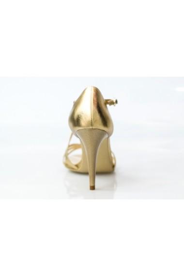Sandale cu toc Thea Visconti aurii