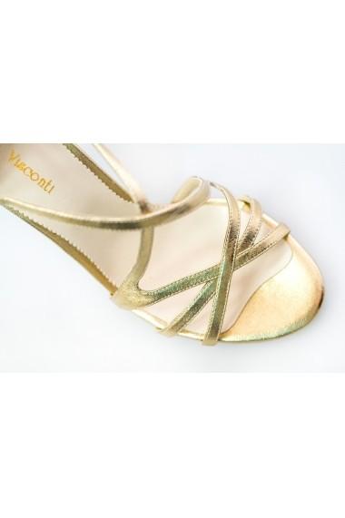 Sandale pentru femei Thea Visconti aurii cu barete