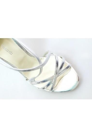 Sandale pentru femei Thea Visconti argintii cu bareta reglabila