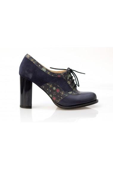 Pantofi cu toc Thea Visconti P 552-537-16T bleumarin
