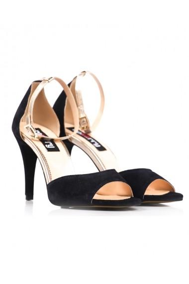 Sandale bleumarin Roserry din piele naturala