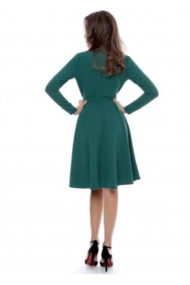 Rochie verde Roserry petrecuta din stofa eleganta